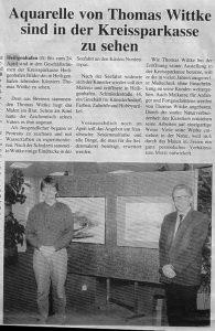Ausstellung 1992 in der Sparkasse